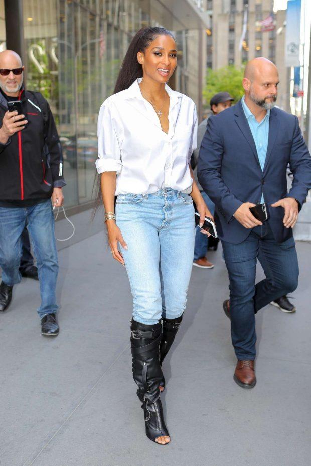 Ciara at SiriusXM Radio Studios in New York City
