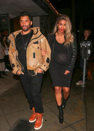 Ciara in Black Dress out in West Hollywood