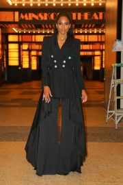 Ciara in Black Pantsuit - Out in New York City