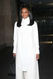 Ciara in White Coat - Arrives at the 'Today Show' in New York