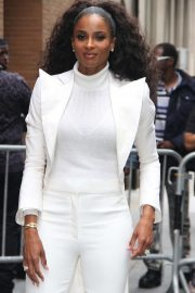 Ciara in White Outfit - Arrives at The View in New York City