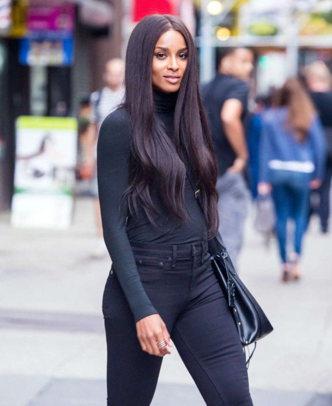 Ciara - Leaving the IMG Models Office in NYC