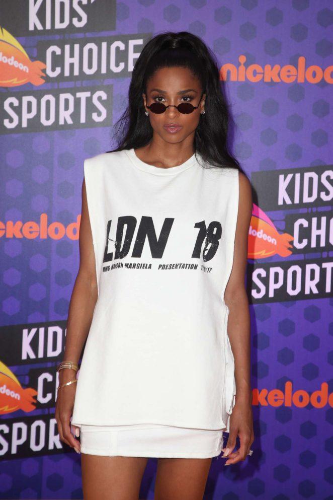 Ciara – Nickelodeon Kids' Choice Sports Awards 2018 in Santa Monica
