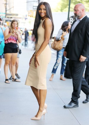 Ciara in Tight Dress Out in NYC