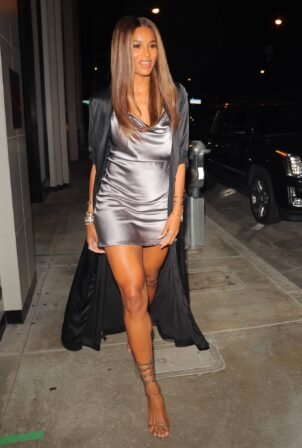 Ciara - Steps out to dinner at Catch LA in West Hollywood