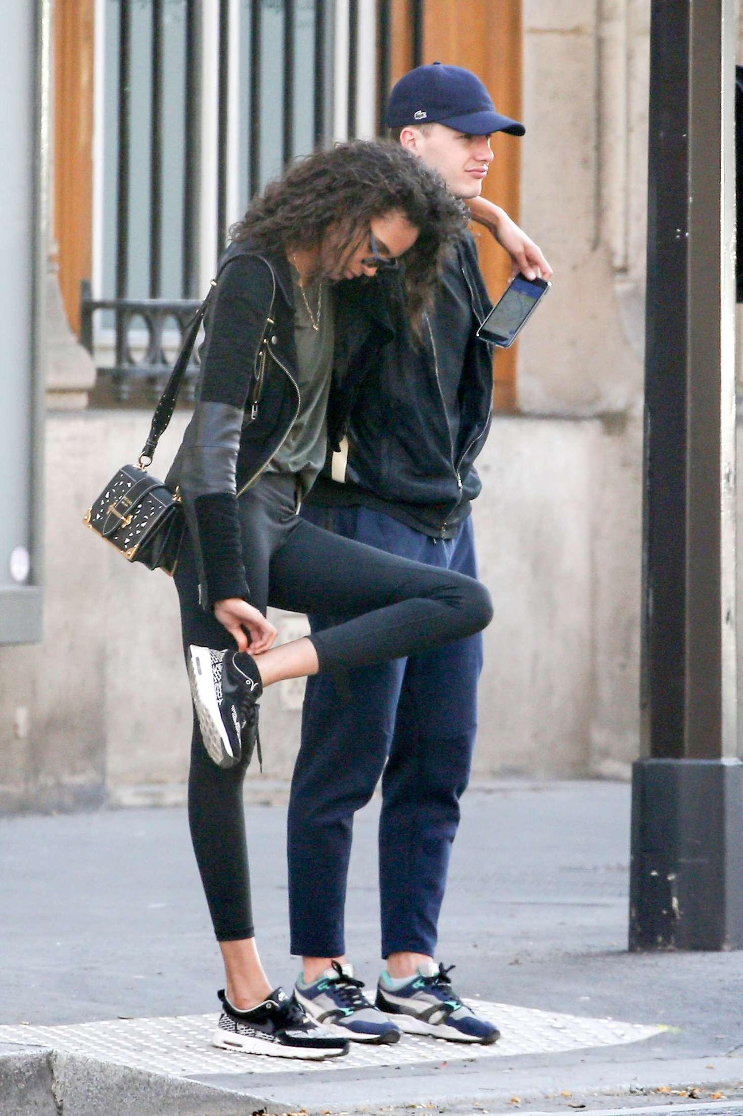 Cindy Bruna And Boyfriend Morgan Biancone Out In Paris 08
