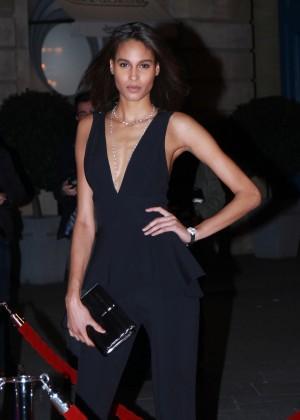 Cindy Bruna - Arrives at PSG Foundation Gala in Paris
