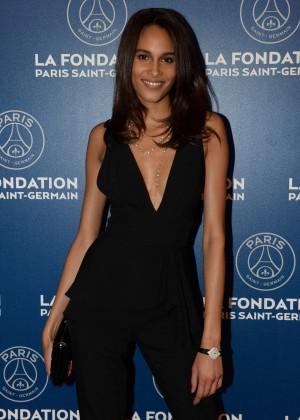 Cindy Bruna at PSG Foundation Gala 2016 in Paris