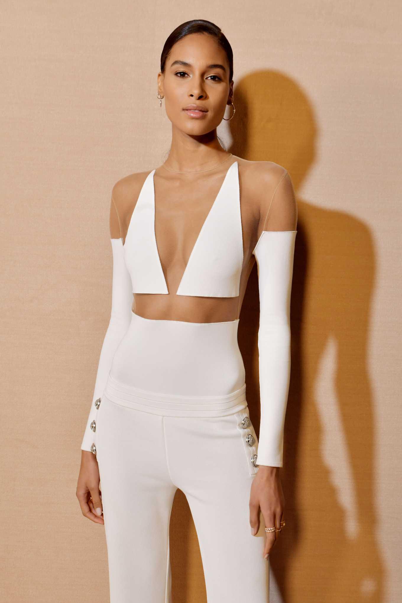 Cindy Bruna - Balmain Fashion Show at Paris Fashion Week 2020