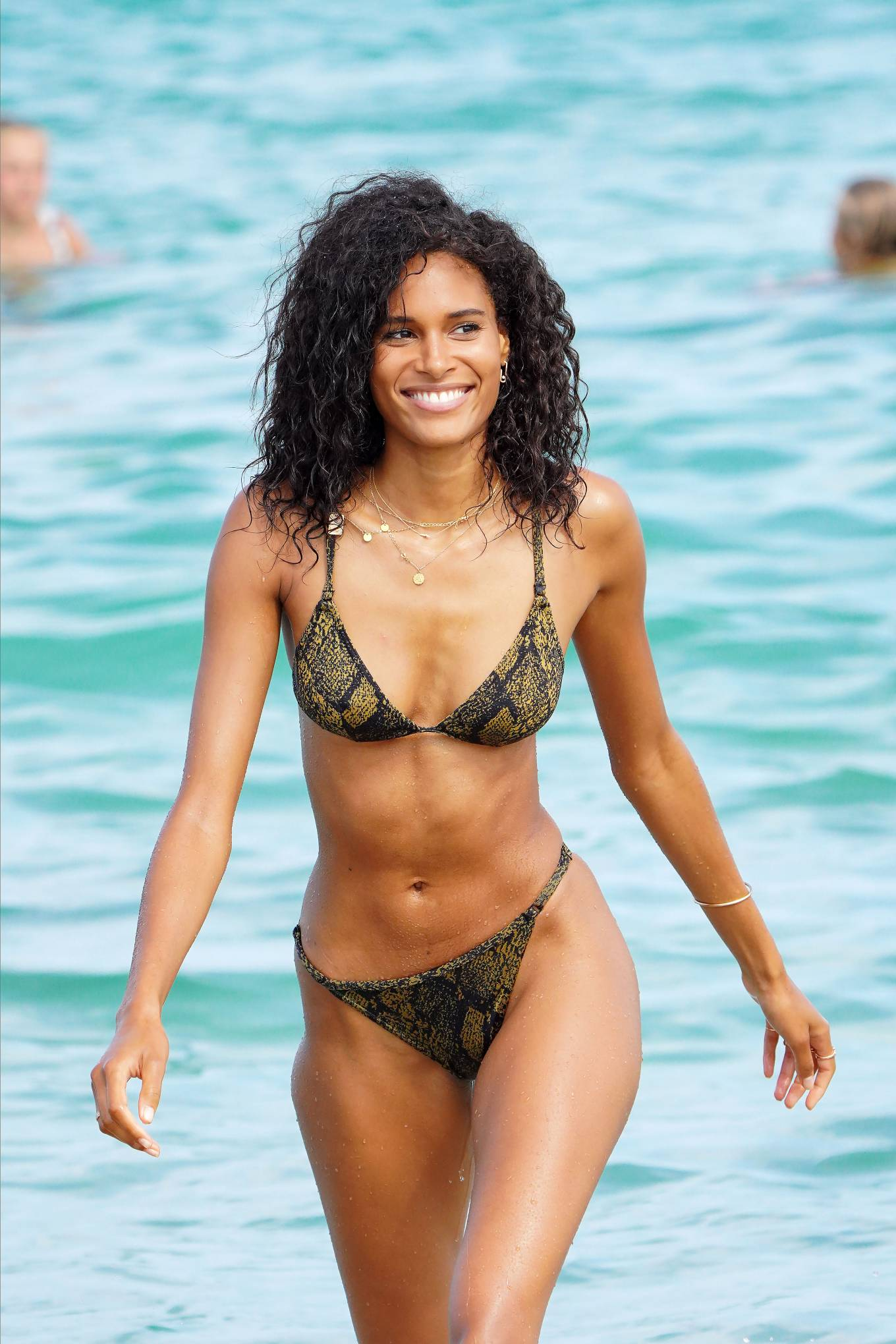 Cindy Bruna in Bikini on the beach in St. Tropez