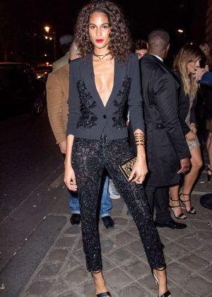 Cindy Bruna - L'Oreal Gold Obsession Party 2016 in Paris