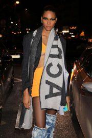 Cindy Bruna - Leaves Jean-Paul Gaultier Show in Paris