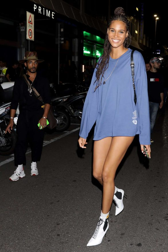 Cindy Bruna - Leaving Tommy x Lewis SS 2020 Show at Milan Fashion Week