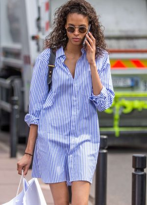 Cindy Bruna on the Croisette in Cannes
