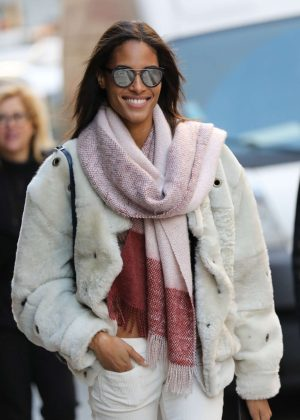Cindy Bruna out in Paris