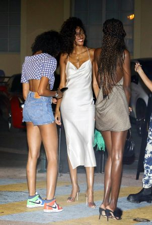 Cindy Bruna - Seen at Vip room la Gioia in Saint Tropez