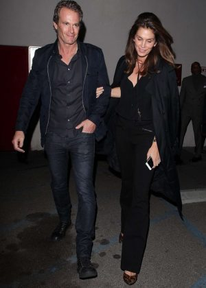 Cindy Crawford and Rande Gerber at Craig's in West Hollywood