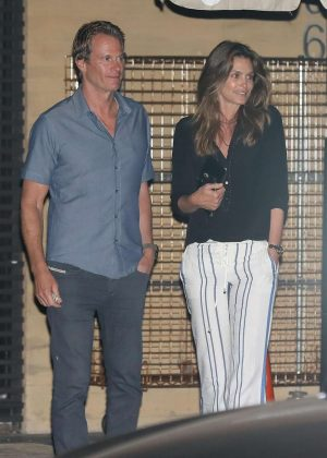 Cindy Crawford and Rande Gerber at Nobu in Malibu