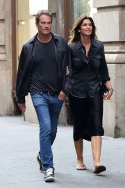 Cindy Crawford and Rande Gerber - Heads to dinner in Manhattan