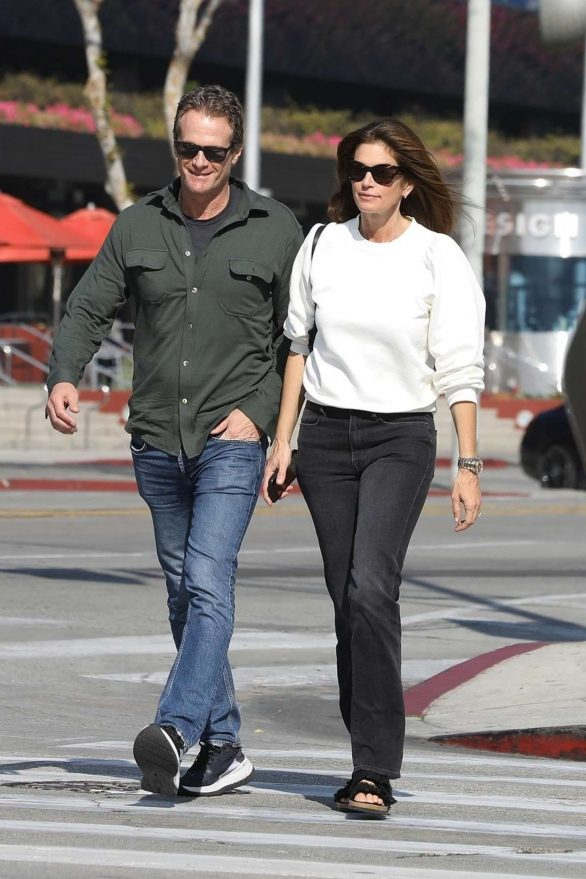 Cindy Crawford and Rande Gerber seen after lunch in West Hollywood