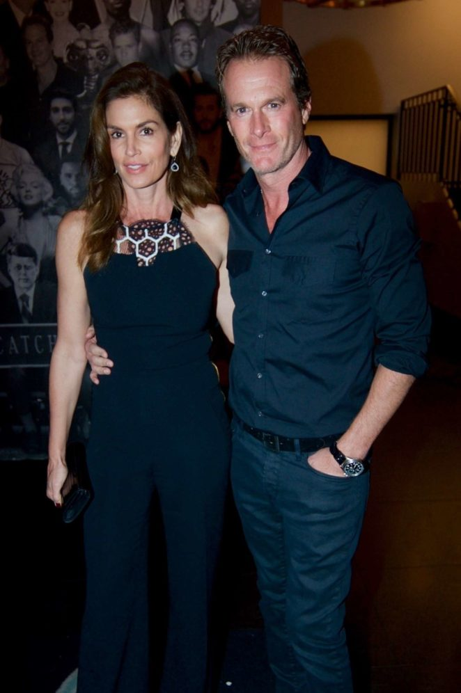 Cindy Crawford and Randy Gerber at Catch LA in Los Angeles