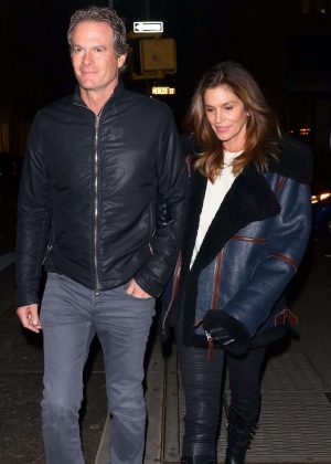 Cindy Crawford and Randy Gerber on Valentine's Day in New York