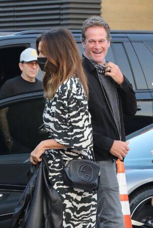 Cindy Crawford - Arrives at celebrity hotspot Nobu in Malibu