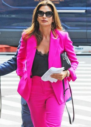 Cindy Crawford - Arriving at While We Are Young Kitchen and Cocktails in NY