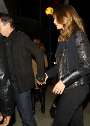 Cindy Crawford at a party in Hollywood
