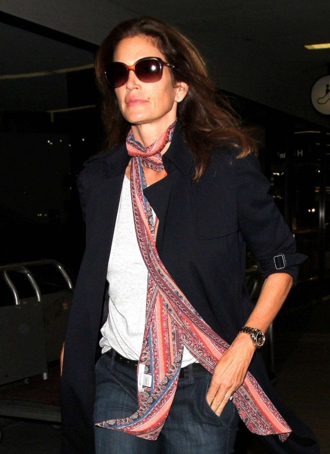 Cindy Crawford at LAX Airport in Los Angeles