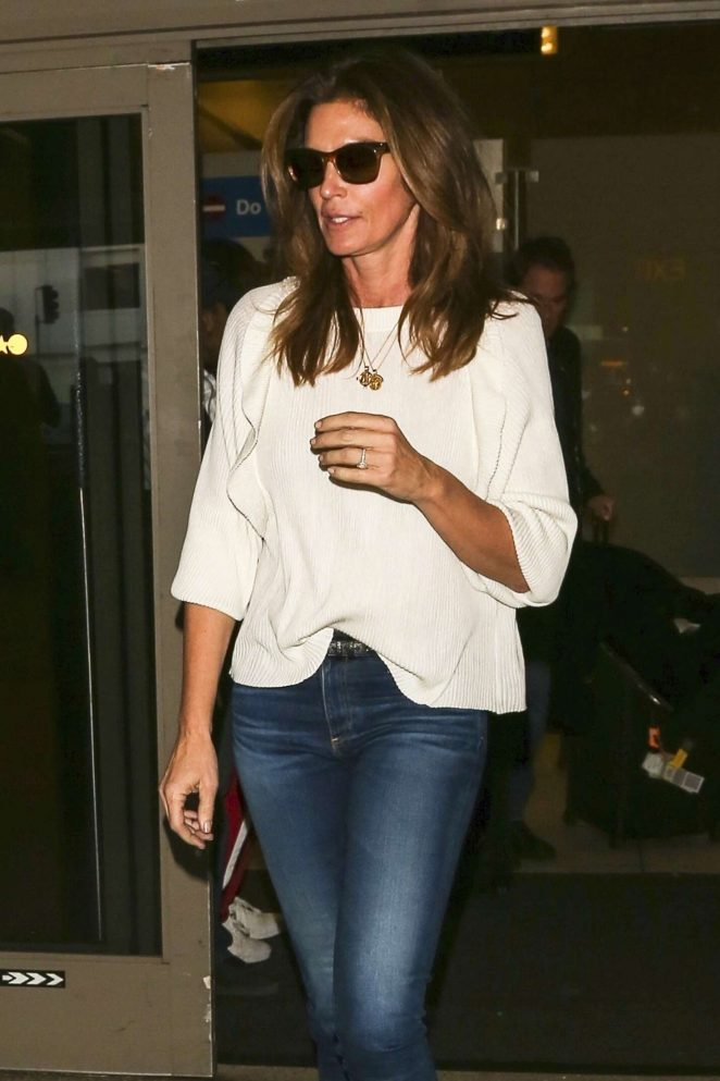 Cindy Crawford at LAX International Airport in LA