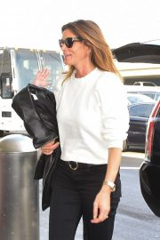 Cindy Crawford departs from LAX