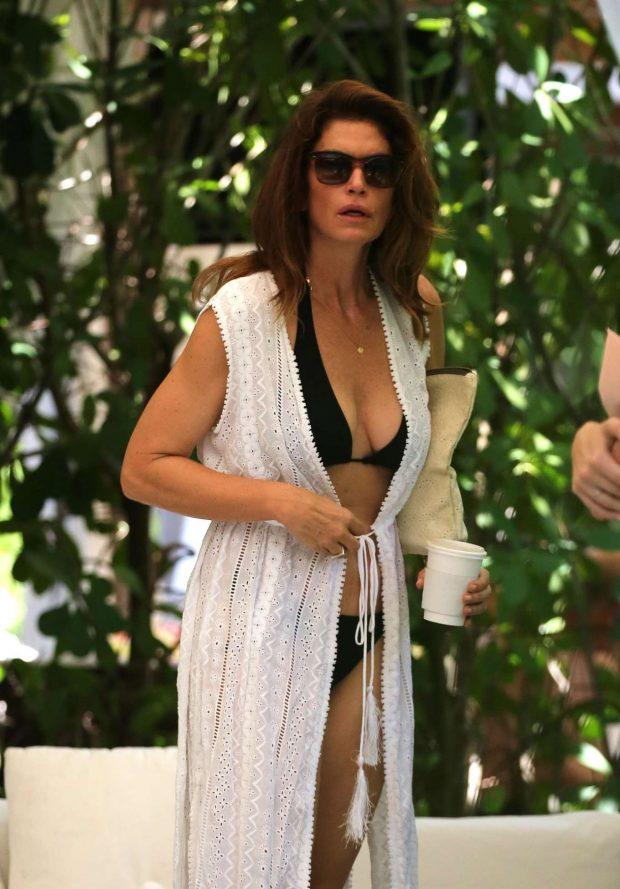 Cindy Crawford in Bikini - On Vacation in Miami