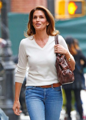 Cindy Crawford in Jeans out in New York City