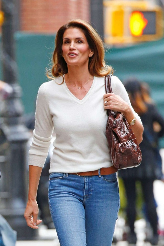 Cindy Crawford In Jeans Out In New York City Gotceleb