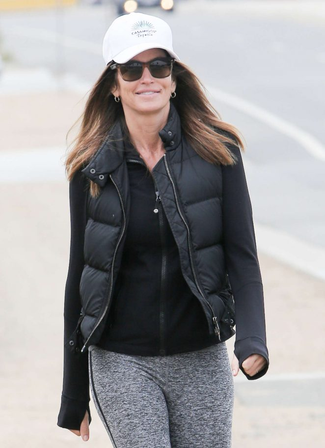 Cindy Crawford in Tights out in Malibu