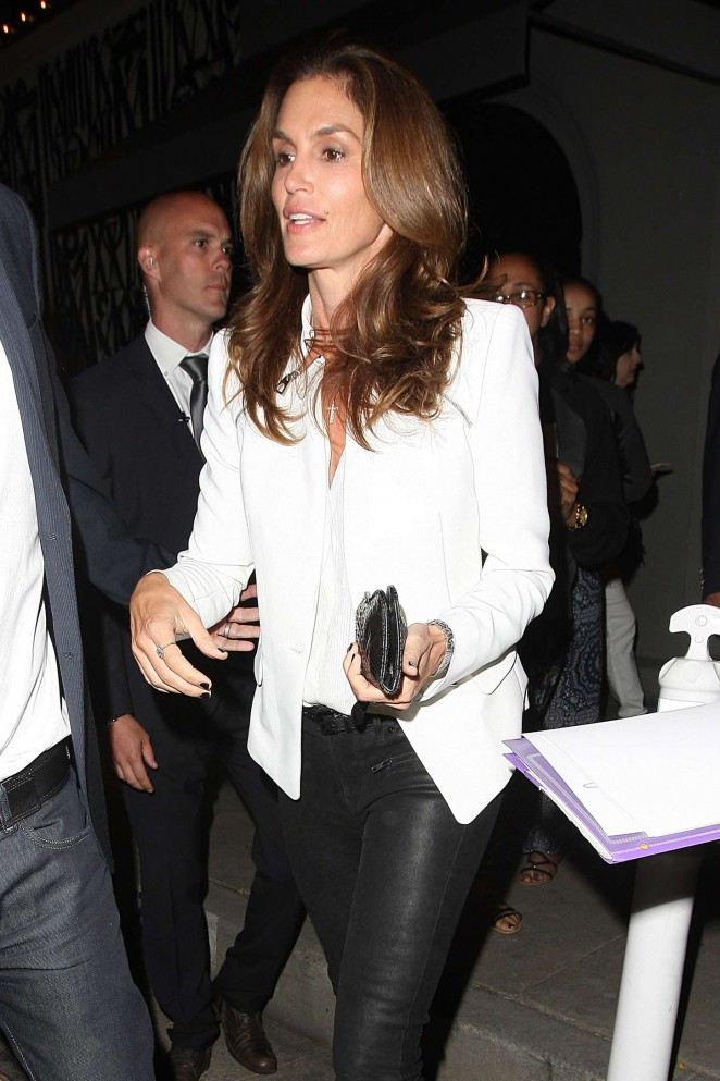 Cindy Crawford - Leaving Craigs 4th Anniversary Party in Los Angeles