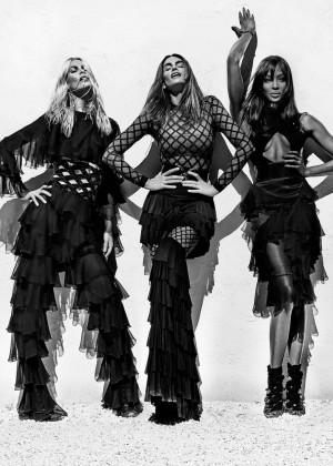 Cindy Crawford, Naomi Campbell and Claudia Schiffer - Steven Klein for Balmain Spring/Summer 2016