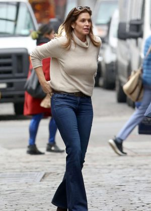 Cindy Crawford - Out and about in New York City