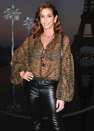 Cindy Crawford - Saint Laurent Fashion Show in Paris