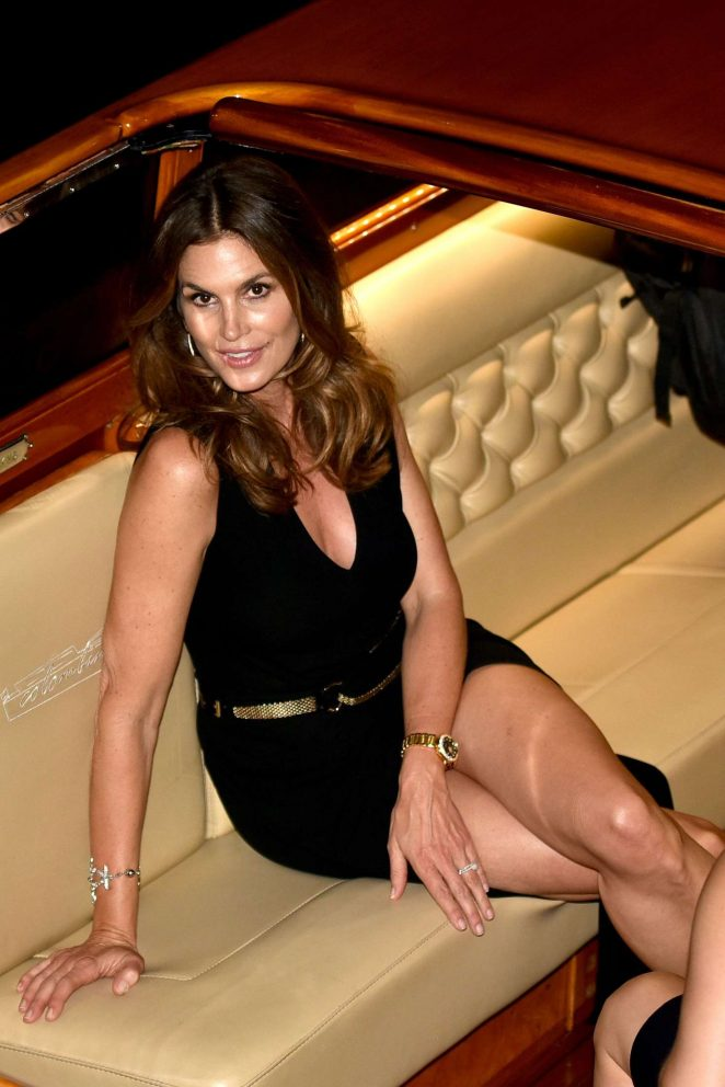 Cindy Crawford: San Benedettos Party in Venice -01