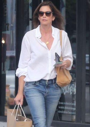 Cindy Crawford  Shopping at American Rag in LA