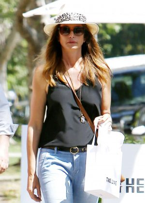 Cindy Crawford Shopping at The Line in West Hollywood