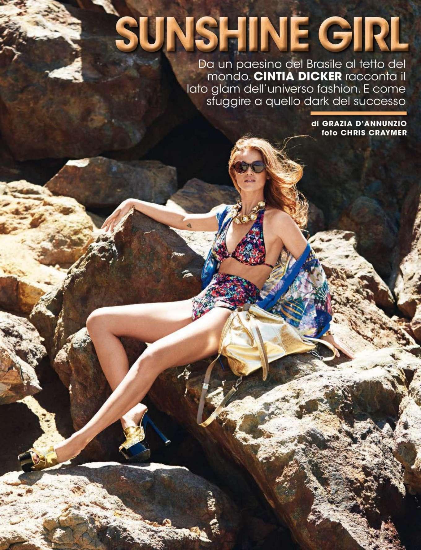 Cintia Dicker 2016 : Cintia Dicker: Glamour Italy 2016 -01