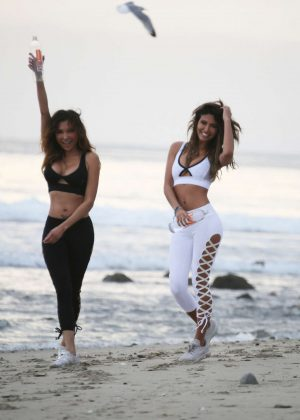 CJ Franco and Raven Lexy - Photoshoot for new campaign in Malibu