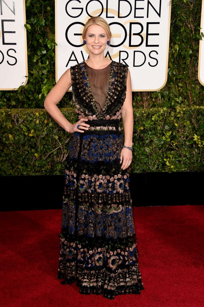 Claire Danes: 2015 Golden Globe Awards -02