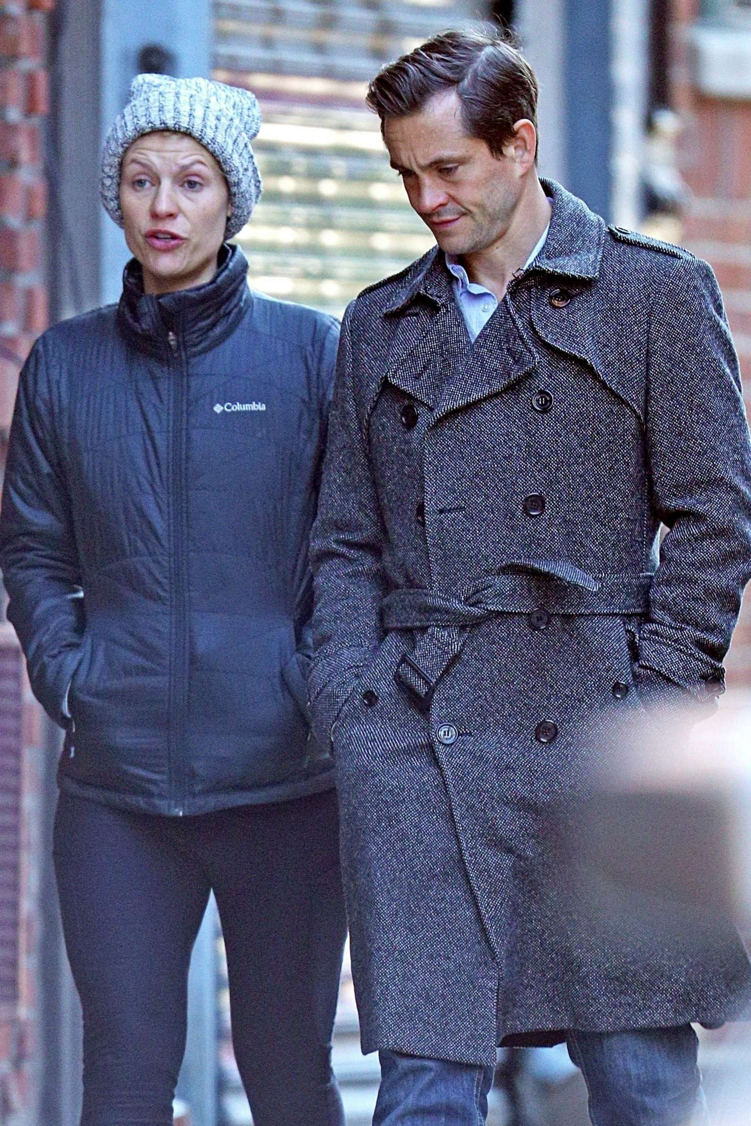 Claire Danes and her husband Hugh Dancy out in New York