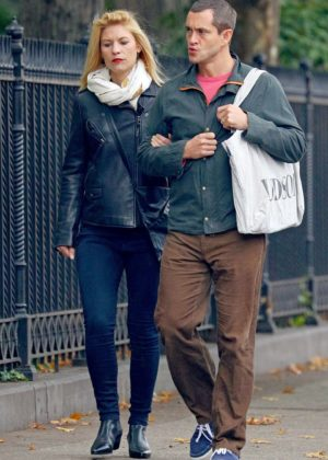 Claire Danes and Hugh Dancy out in NYC