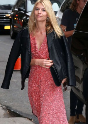 Claire Danes - Arriving at 'Late Show With Stephen Colbert' in NY