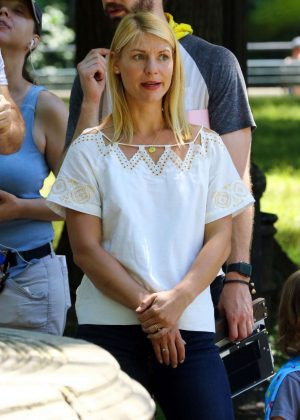 Claire Danes - Filming 'A Kid Like Jake' set in New York